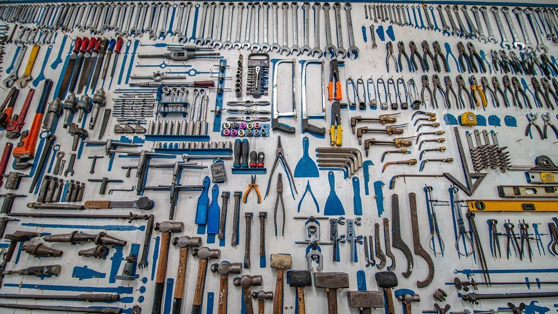 Multi colored Tools
