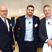 John Sheffield, Ingo Franke and Rhodri Cave at Agile in Auto Conference