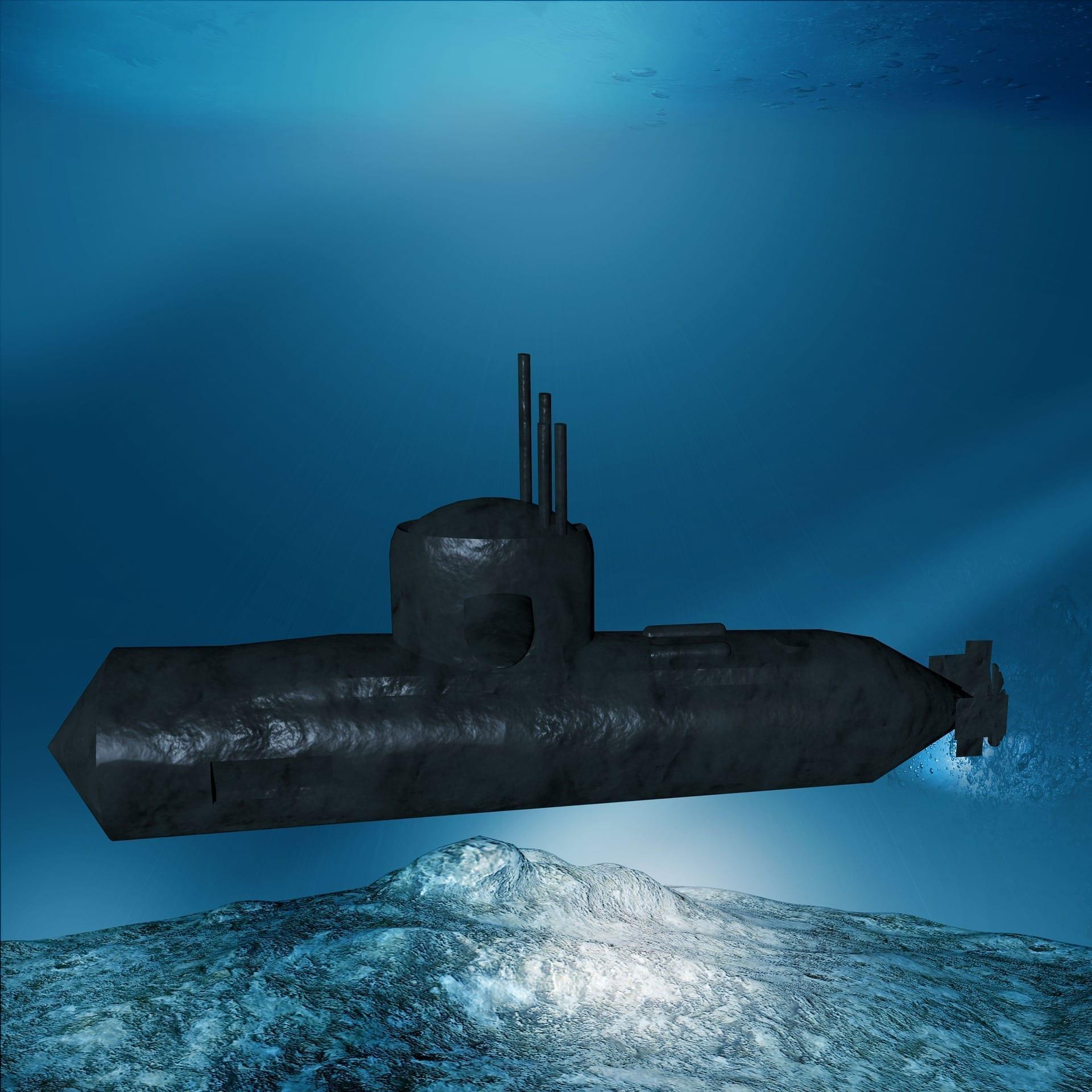 Naval Submarine Under water