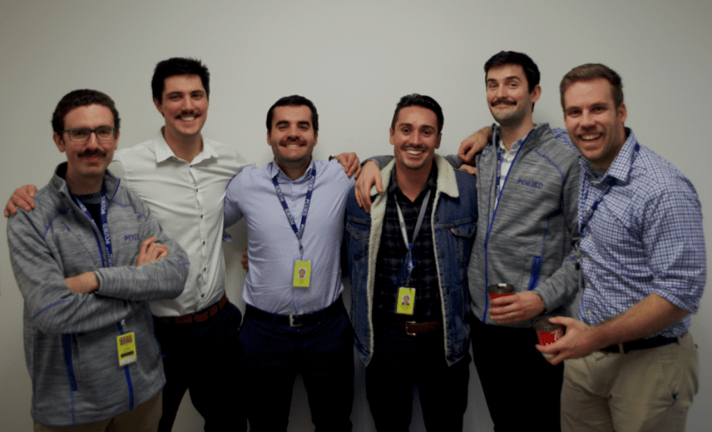 MIGSO PCUBED Canada Movember Team sporting mustaches