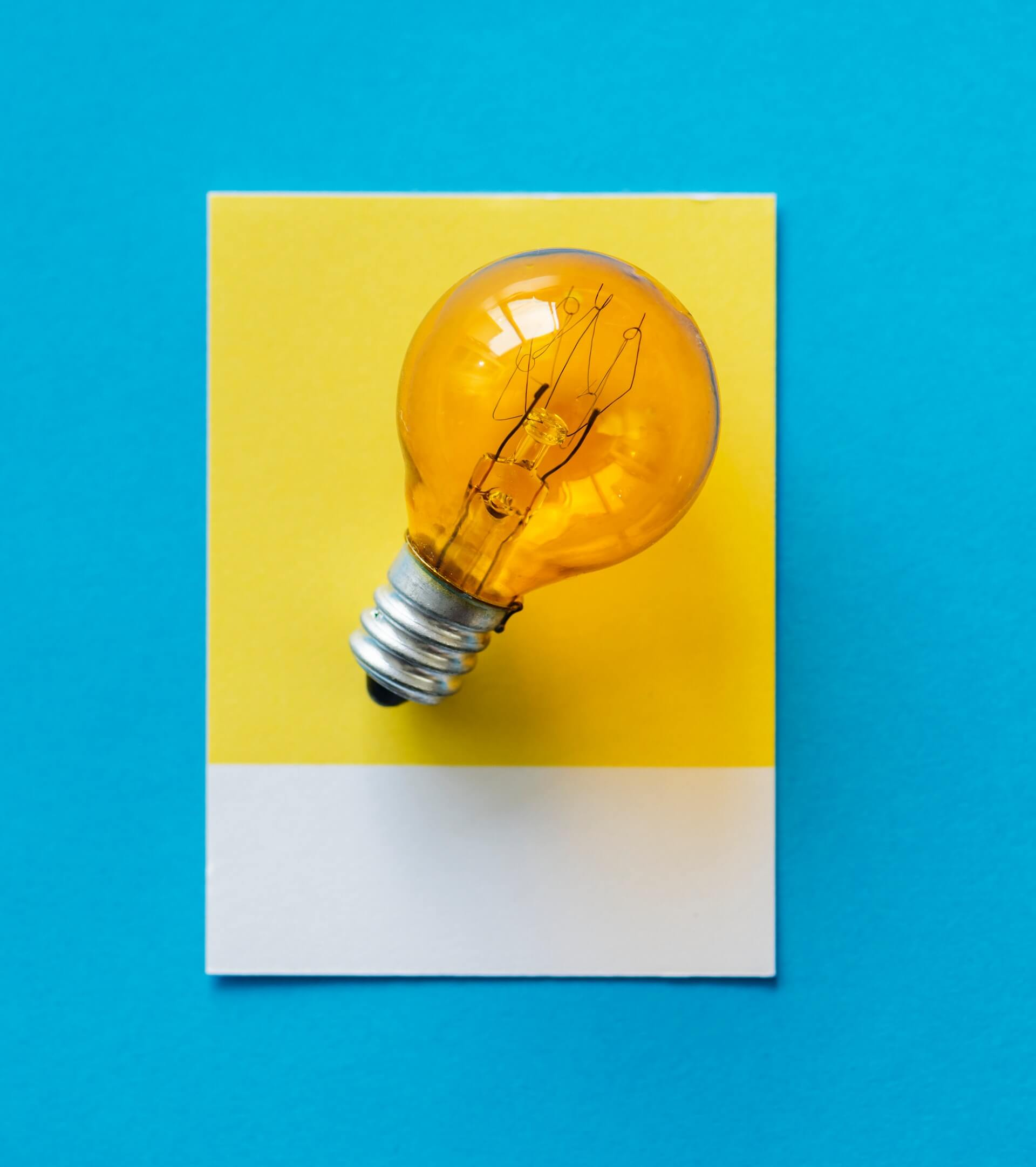 Bulb on a blue background