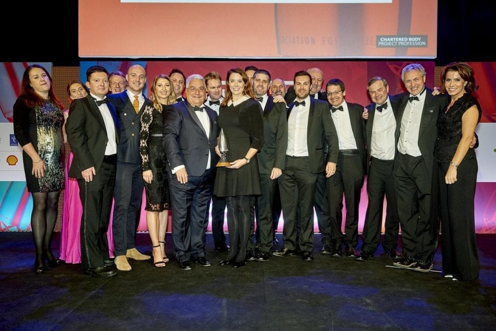 People standing for Project Management Consultancy of the Year 2018
