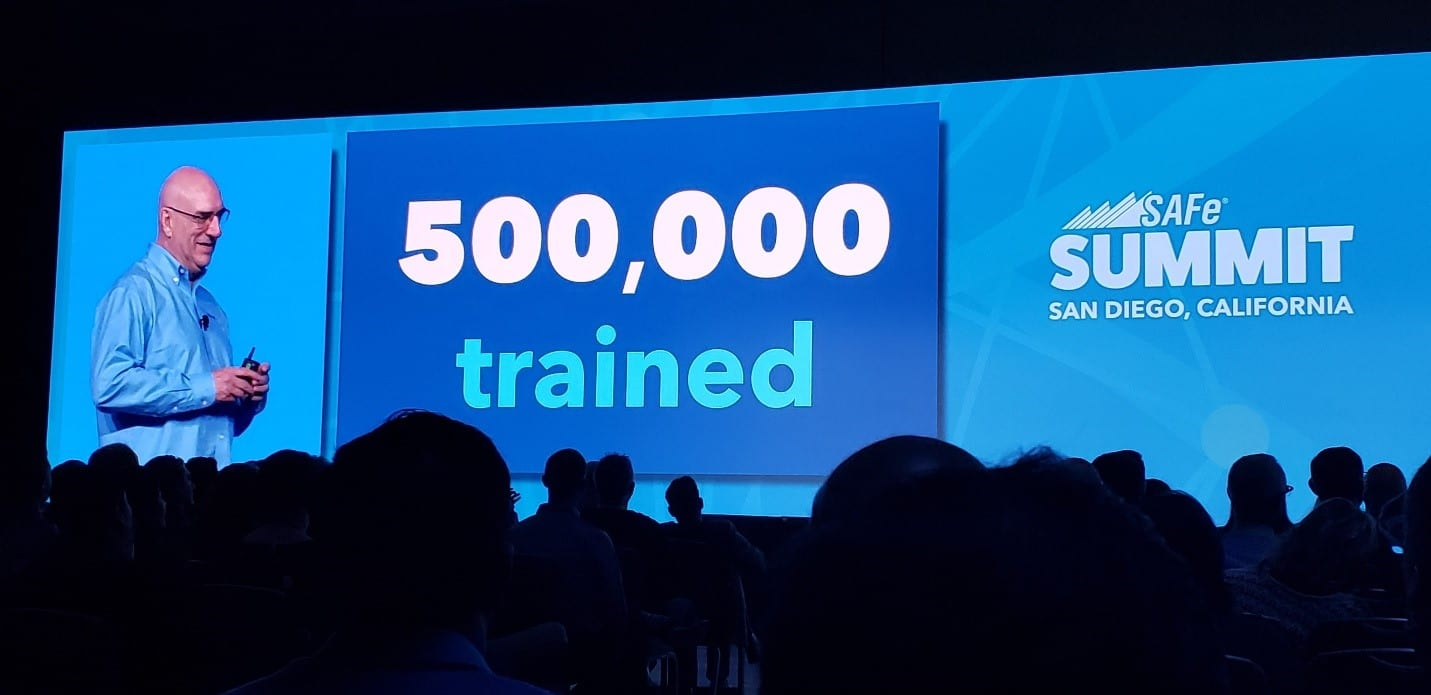 Chris James, CEO of Scaled Agile, revealed 500,000 people have been trained in SAFe.