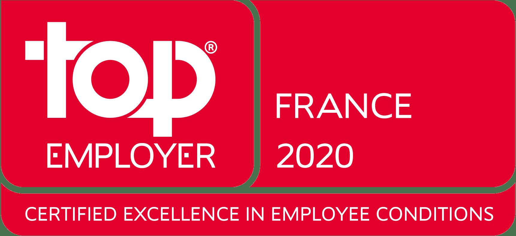 Top Employer France 2020 Logo
