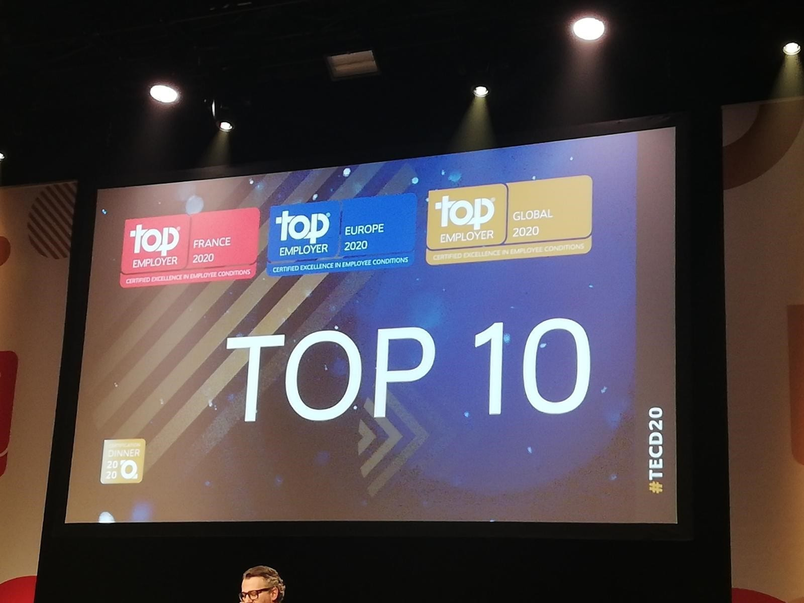 Top 10 - Top Employer France 2020