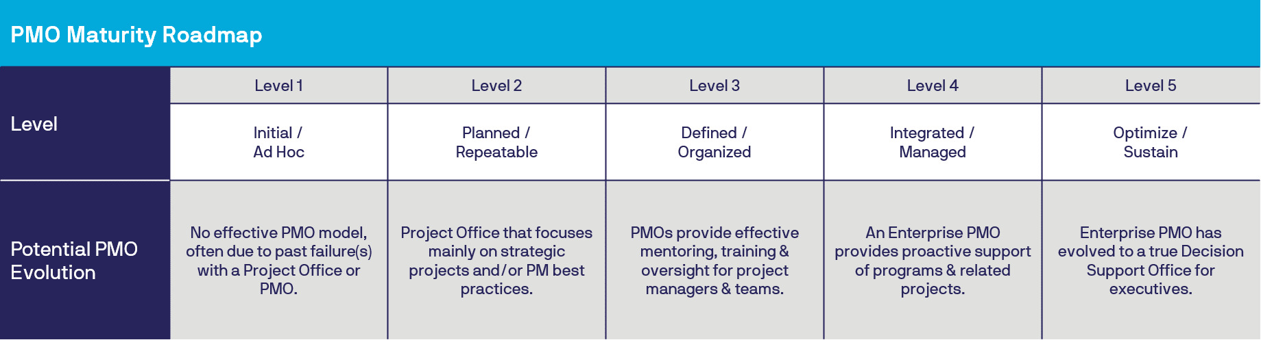PMO Maturity Roadmap