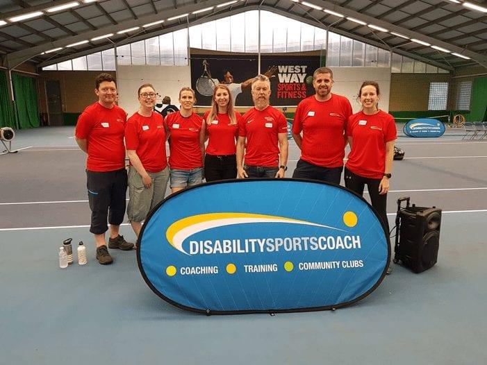 Disability sport coach team