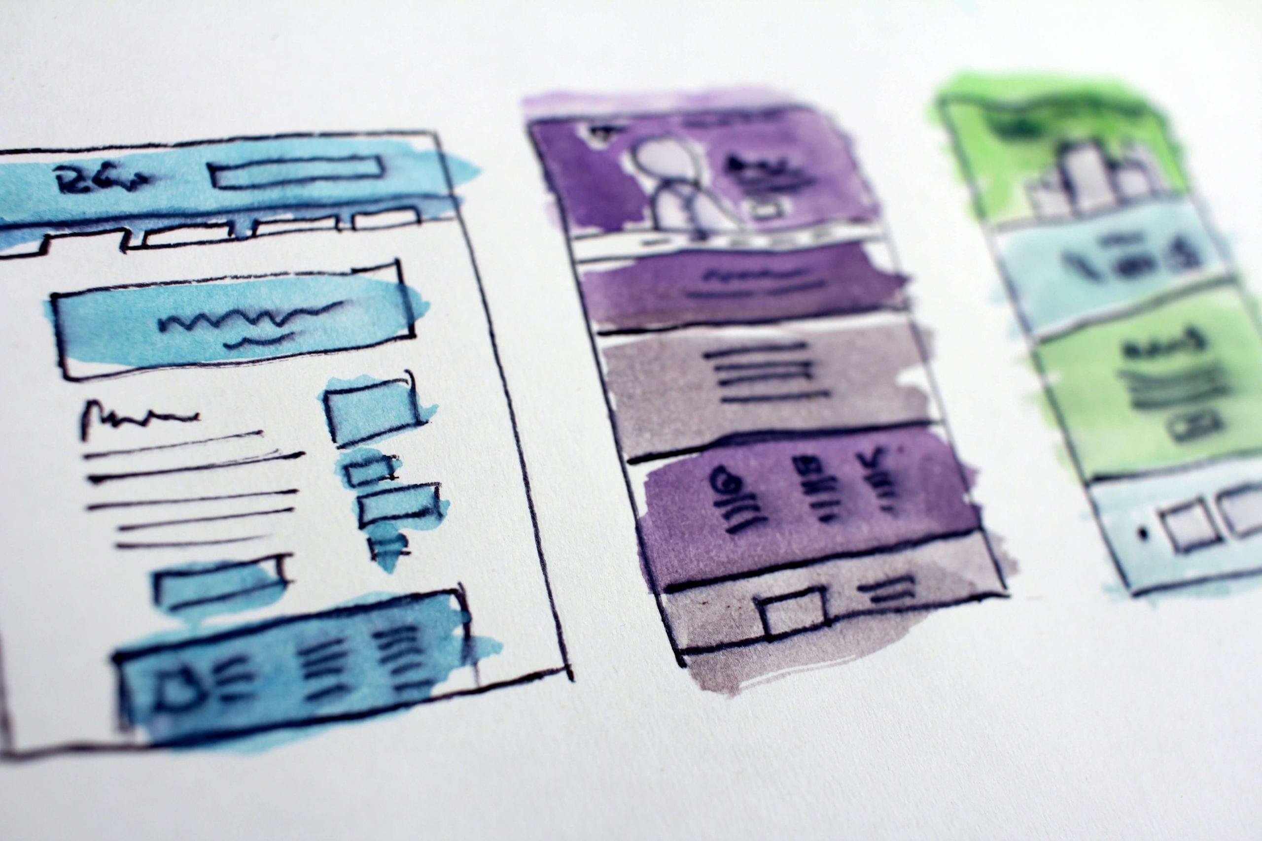 Illustration of app design