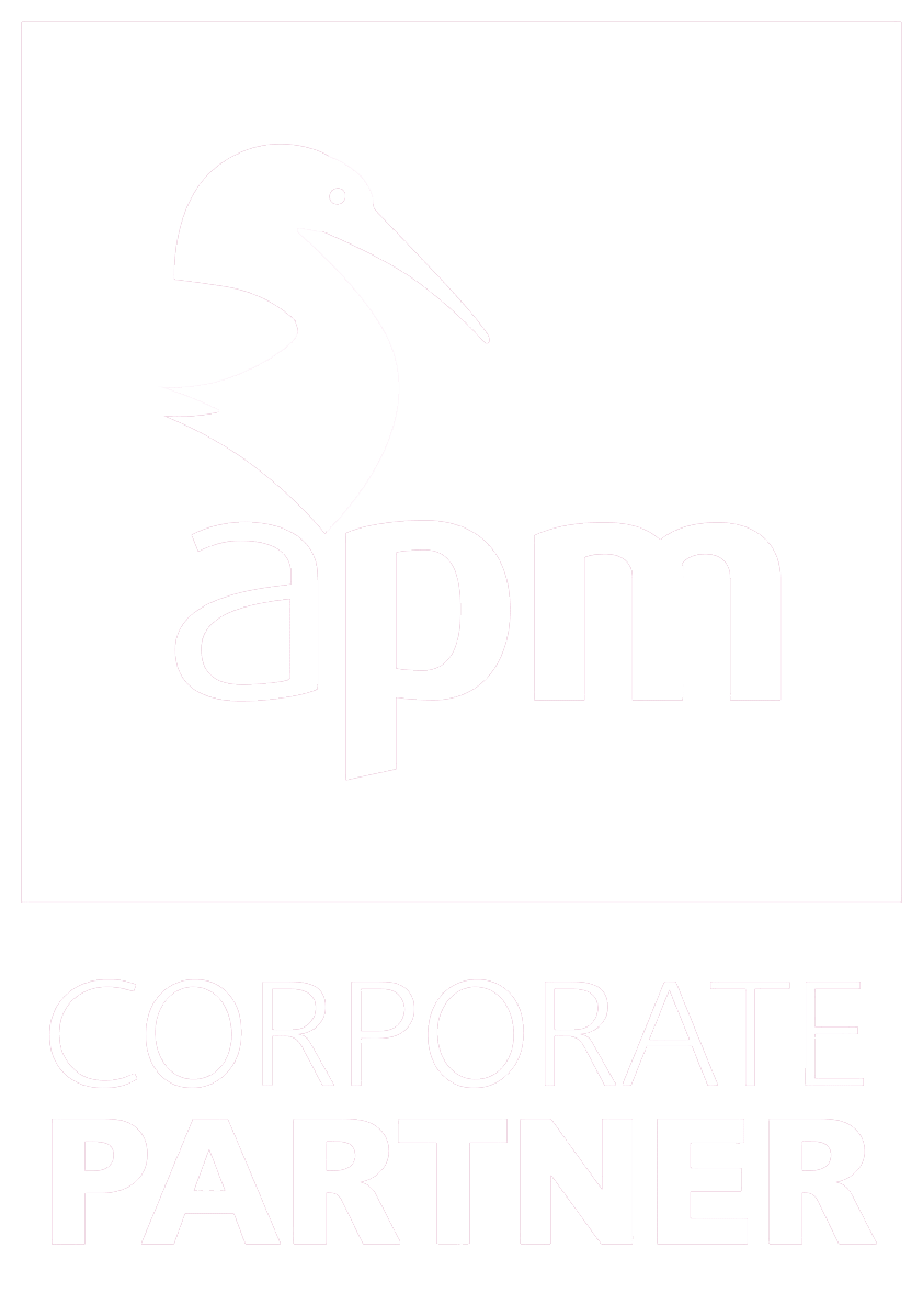 APM Corporate partner logo - white