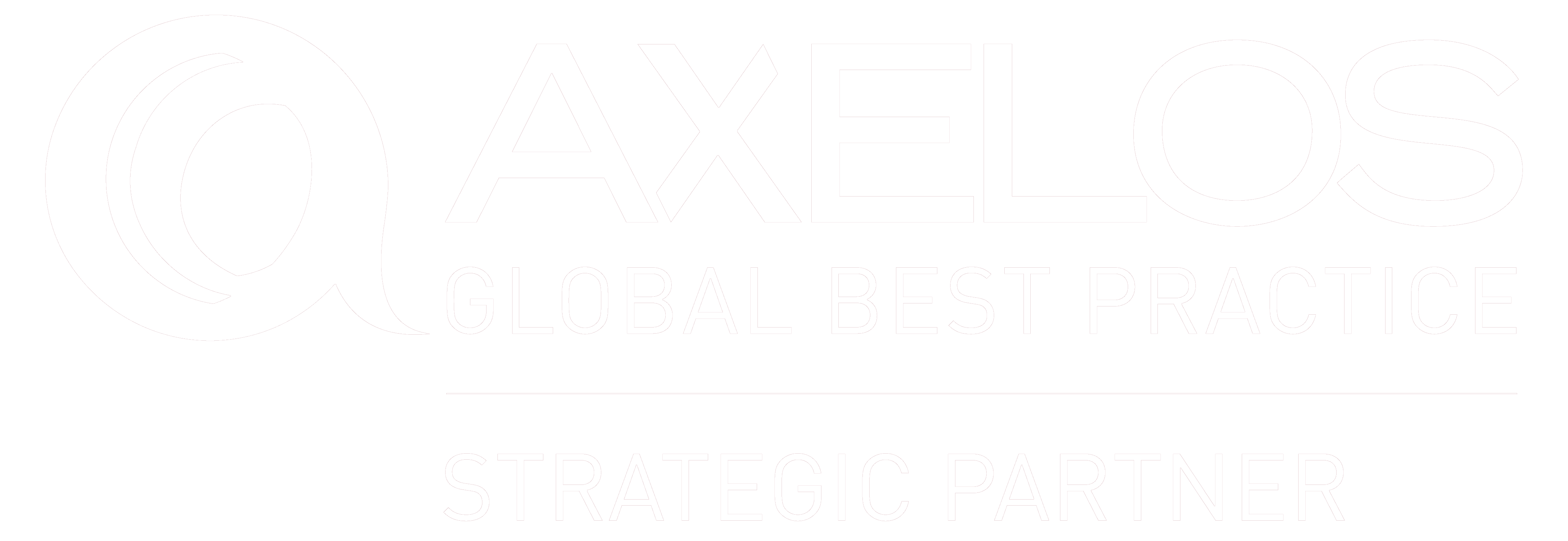 Axelos global partner logo - white