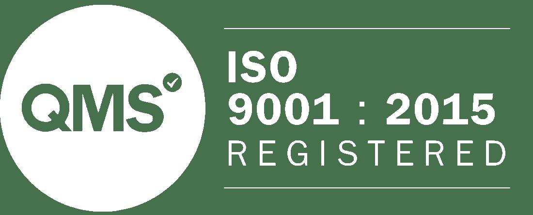 ISO-9001 logo - white