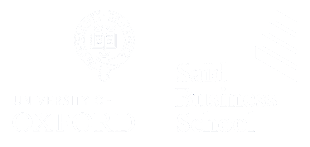 Oxford Said Business School logo - white