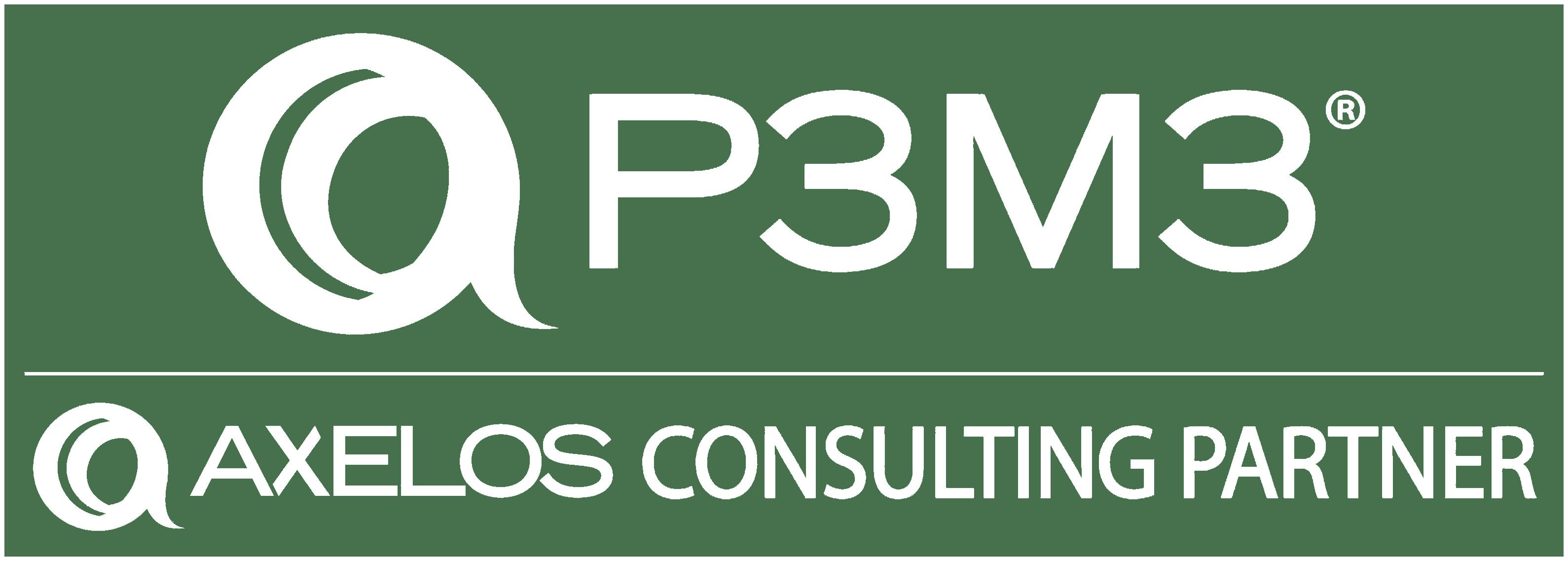 P3M3 Axelos logo - white
